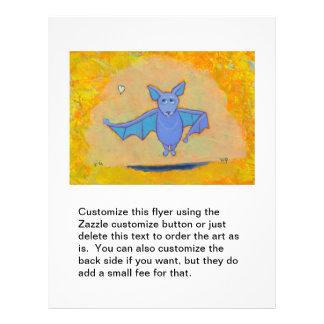 Cute bat art for folks who love bats fun colorful 21.5 cm x 28 cm flyer