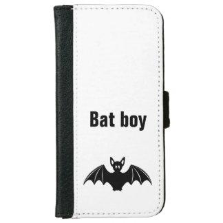 Cute bat cartoon pun joke boys iPhone 6 wallet case