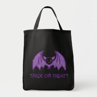 Cute Bat Trick or Treat Tote Bag