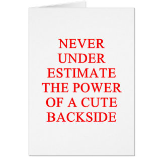 cute bckside greeting card