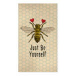 Cute Be Yourself Bee Business Cards