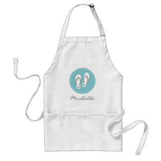 Cute beach flip flops baking apron for women