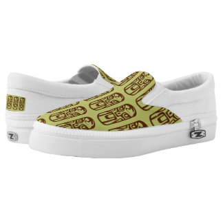 Cute Beach tiki green pattern slip on shoe Printed Shoes