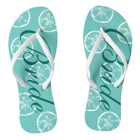 Cute beach wedding flip flops for bride and