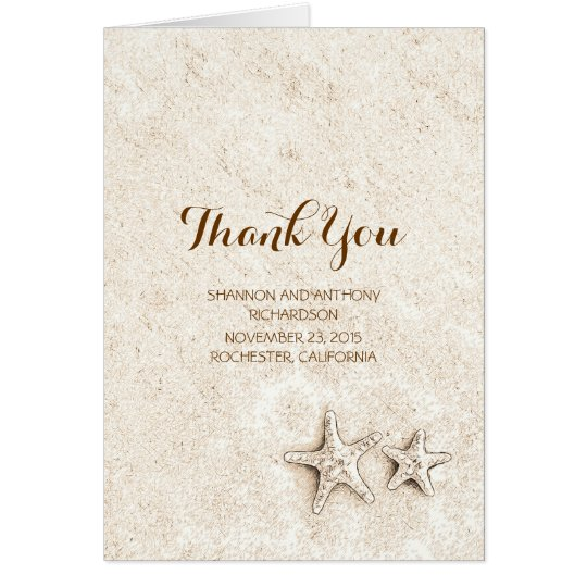 cute beach wedding thank you cards