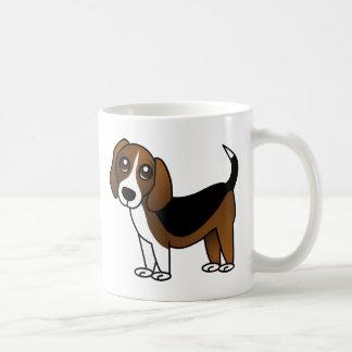 Cute Beagle Cartoon Dog Basic White Mug