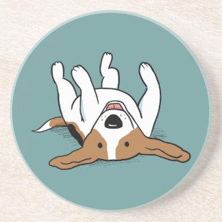 Cute Beagle Cartoon Dog Drink Coaster