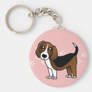 Cute Beagle Cartoon Dog Key Ring
