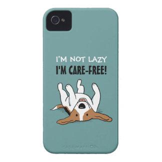 Cute Beagle Cartoon Dog with Text iPhone 4 Case-Mate Case