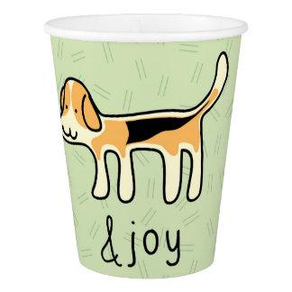 Cute Beagle Dog &joy Doodle Paper Cup