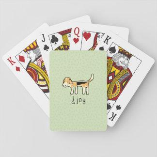 Cute Beagle Dog &joy Doodle Playing Cards