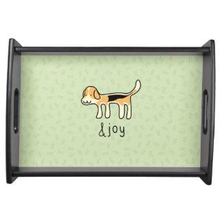 Cute Beagle Dog &joy Doodle Serving Tray