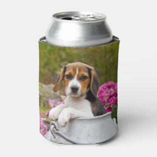 Cute Beagle Dog Puppy in a Milk Churn Funny Bawdle Can Cooler