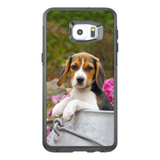 Cute Beagle Dog Puppy in a Milk Churn - protection OtterBox Samsung Galaxy S6 Edge Plus Case