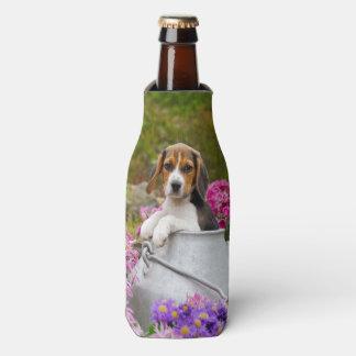 Cute Beagle Dog Puppy in Milk Churn  Bottle-Jacket