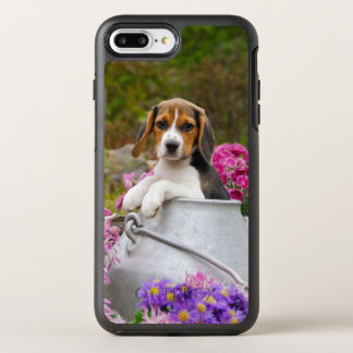 Cute Beagle Dog Puppy in Milk Churn  protect-Phone OtterBox Symmetry iPhone 8 Plus/7 Plus Case