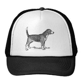 Cute Beagle Elegant Dog Drawing Trucker Hat