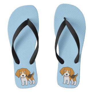 Cute Beagle Flip Flops