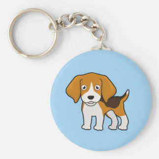 Cute Beagle Key Ring