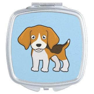 Cute Beagle Makeup Mirrors