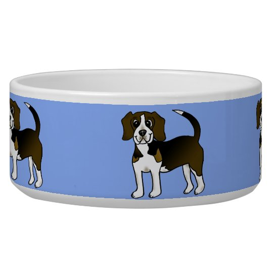 Cute Beagle Pet Dog Food Bowl