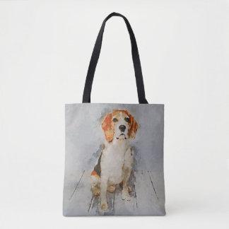 Cute Beagle Portrait Tote Bag