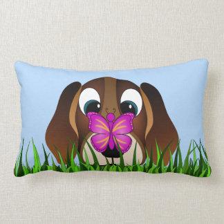 Cute Beagle Puppy Dog and Butterfly Lumbar Pillows Throw Pillows