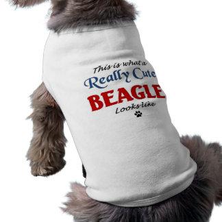 Cute Beagle Sleeveless Dog Shirt