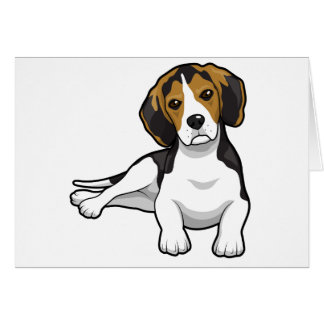 Cute Beale Puppy Greeting Card
