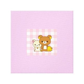 Cute Bear and Duck Canvas