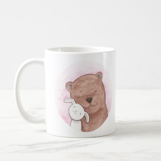 Cute Bear & Bunny Love Couple Mug Animal