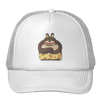Cute bear cap funny cartoon character anime hat