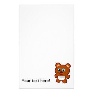 Cute bear cartoon personalized stationery