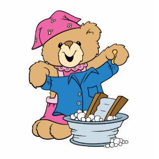 Cute Bear Doing Laundry Acrylic Cut Outs