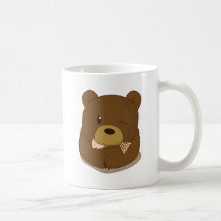 Cute Bear eating fish Mug