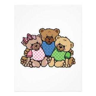 cute bear family full color flyer