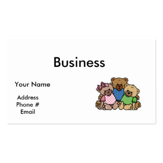 cute bear family pack of standard business cards