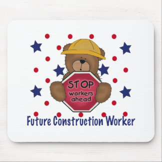 Cute Bear Future Construction Worker Mouse Pad