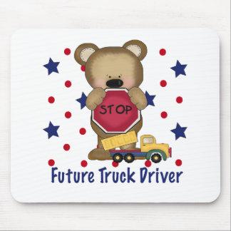 Cute Bear Future Truck Driver Mousepad