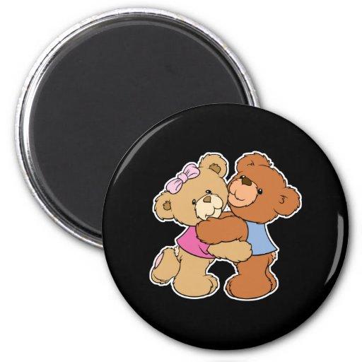 Cute Bear Hug Bears Refrigerator Magnets