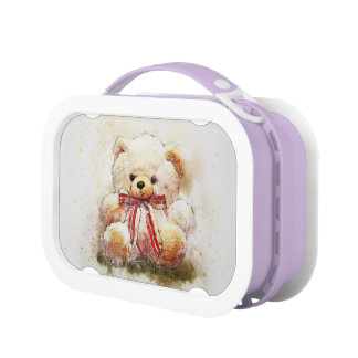 Cute Bear illustration kids lunch box