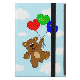 Cute bear in love cartoon kids ipad case