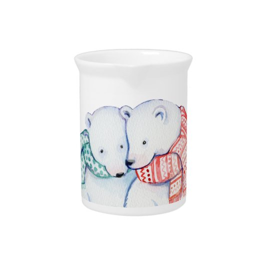 CUTE BEAR PITCHER.  CHRISTMAS POLARBEAR GIFT PITCHER