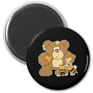Cute Bear Stealing Honey Magnet