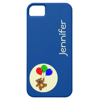 Cute bear with balloons cartoon name kids case for the iPhone 5