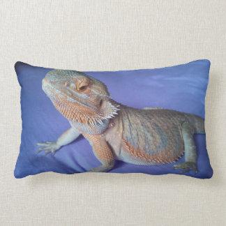 Cute Beardie Picture Blue Lumbar Cushion