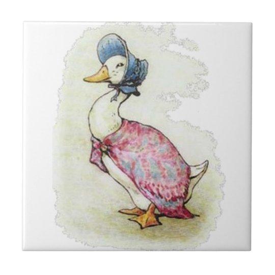 Cute Beatrix Potter, Jemima Puddle Duck Tile