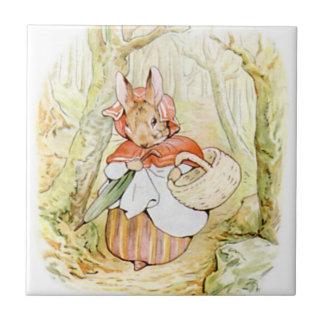 Cute Beatrix Potter, Mrs. Rabbit, Custom Tile