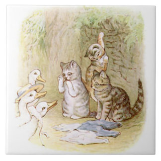 Cute Beatrix Potter The Tale of Tom Kitten Tile