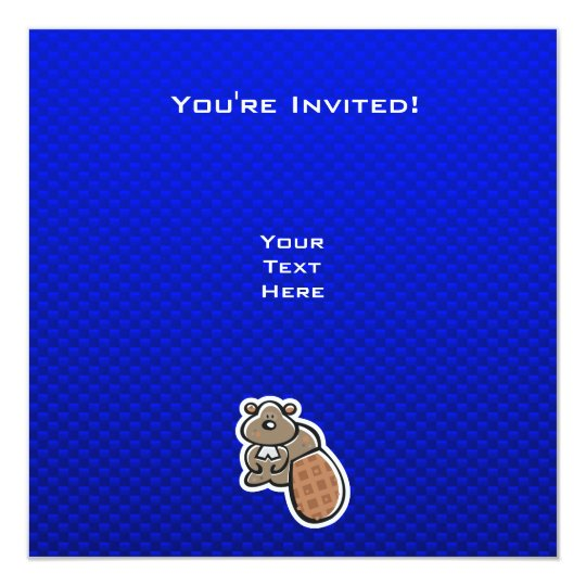 Cute Beaver; Blue Card